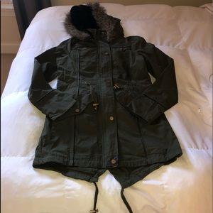 Jackets & Blazers - Long green winter jacket